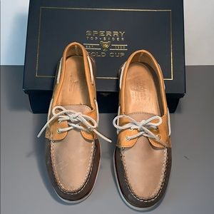 Men's Sperry Top-Sider Gold Cup Brown Size 10 1/2